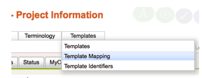 Template Mapping Menu